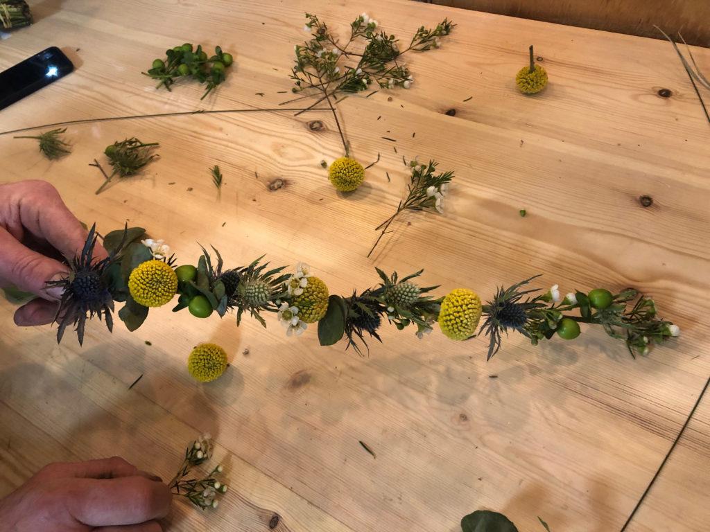 Couronne de fleur étape 4