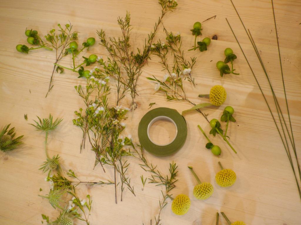 Couronne de fleur étape 2